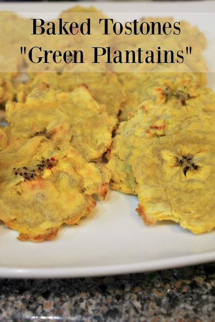 Baked tostones (green plantains)