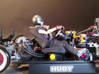 A hip RC car featuring a Clutch Kicking mod
