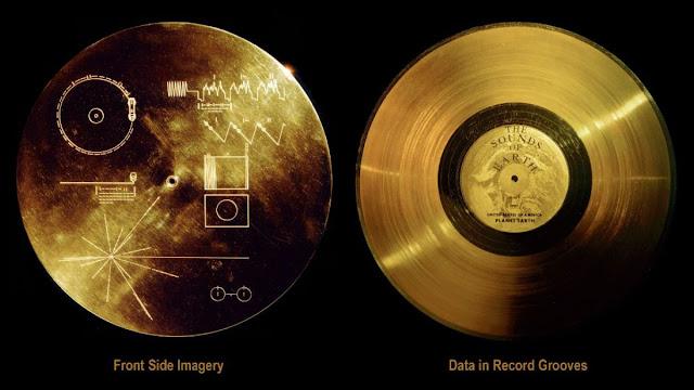 el Disco de Oro de la sonda Voyager