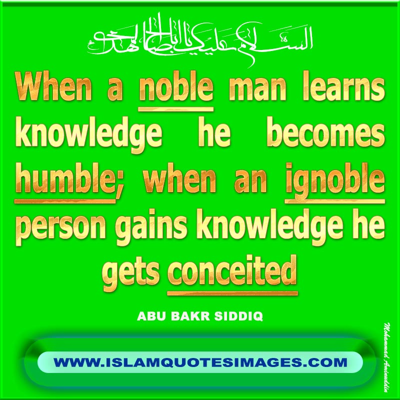 Islam quotes images when a noble man learns knowledge