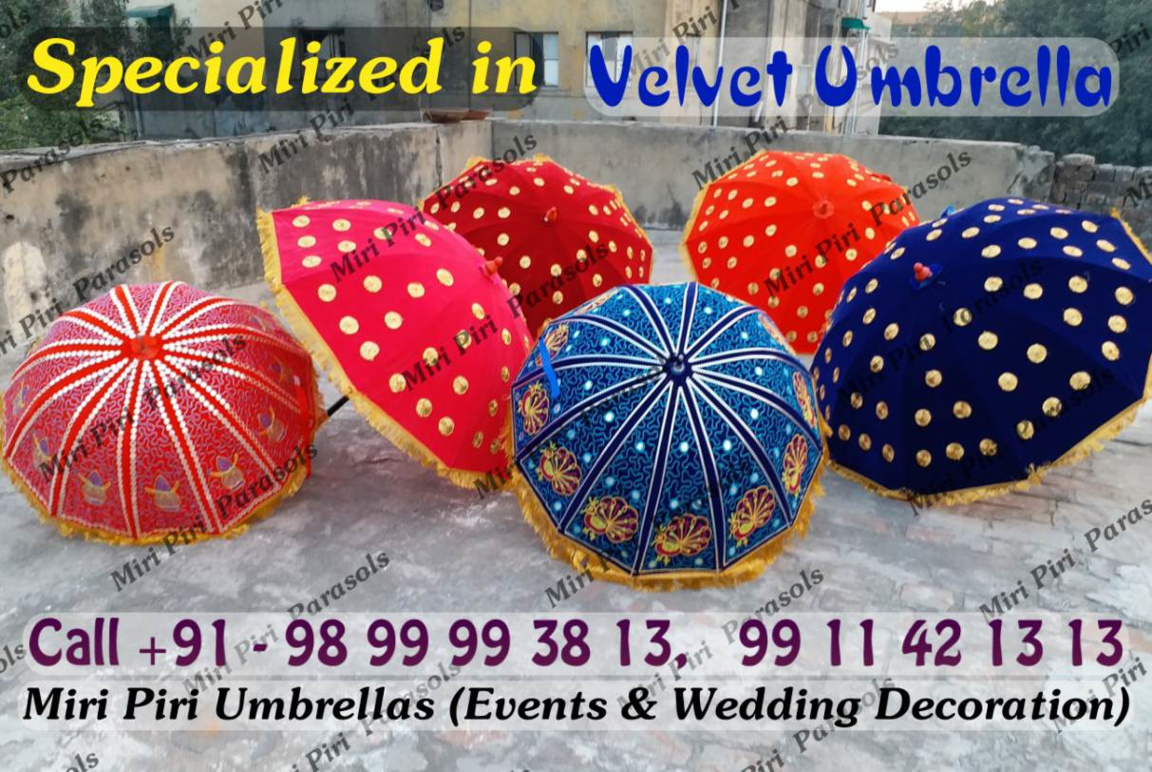Velvet umbrellas parasols manufacturers suppliers wholesalers manufacturers suppliers exporters wholesalers of velvet umbrella wedding umbrellas handmade junglespirit Images