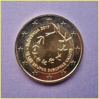 2017 Eslovenia 10 anos adopcion Euro