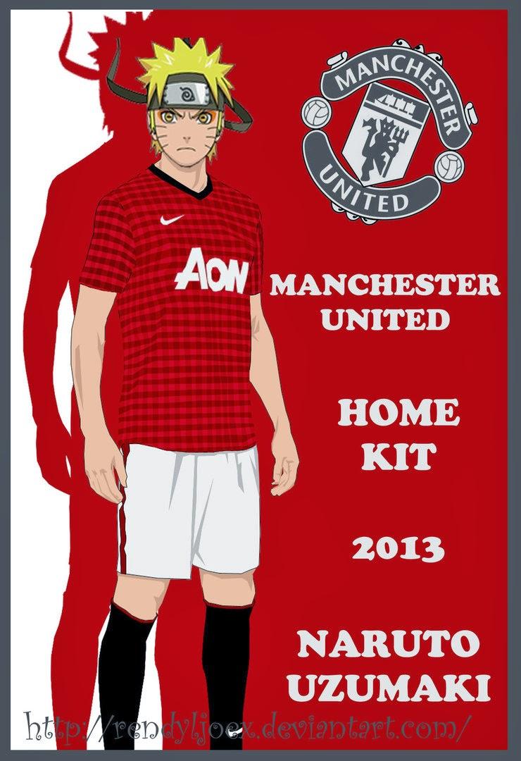 Gambar Kartun Naruto Manchester United