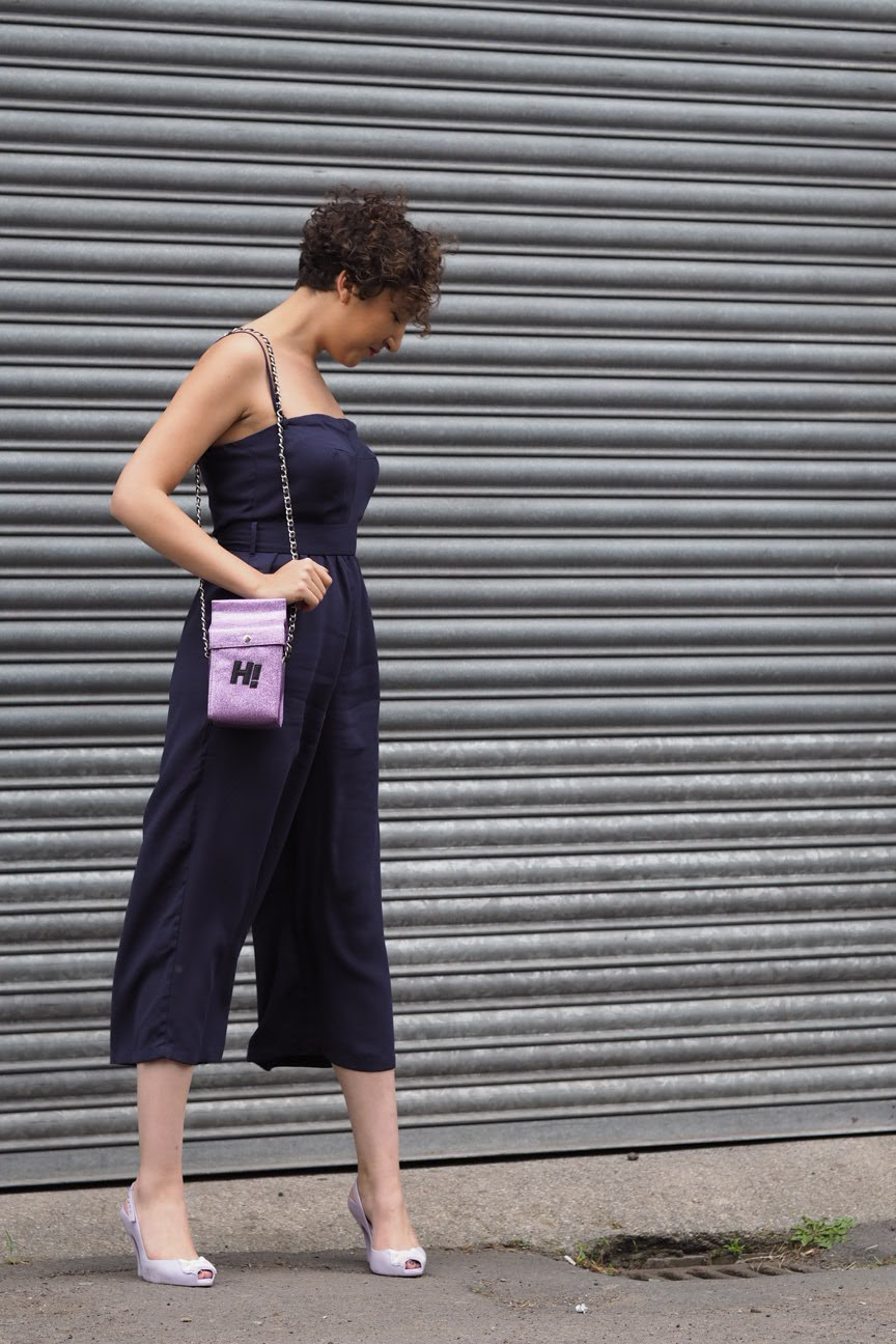 Cropped jumpsuit, milk carton bag, vivienne westwood melissa shoes
