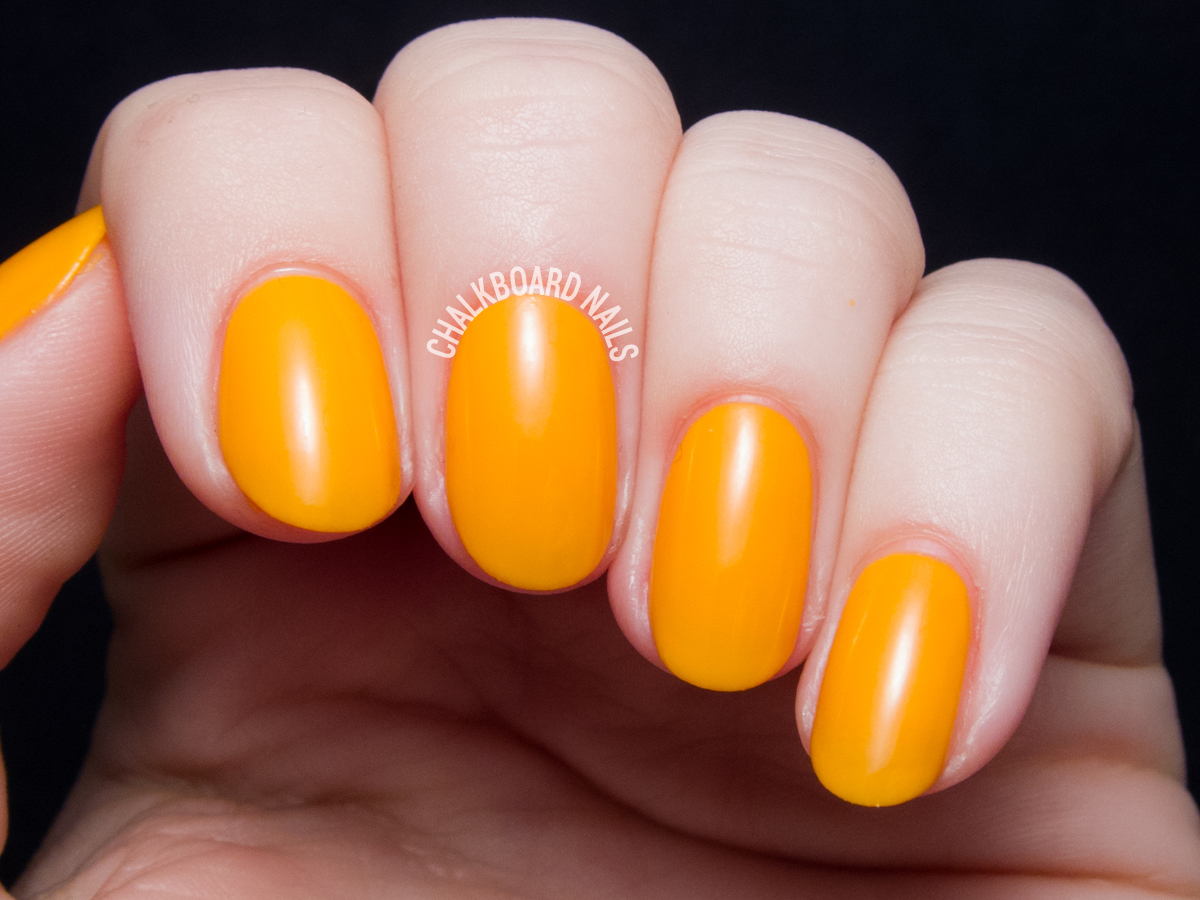 Serum No. 5 Orange You Sunny via @chalkboardnails