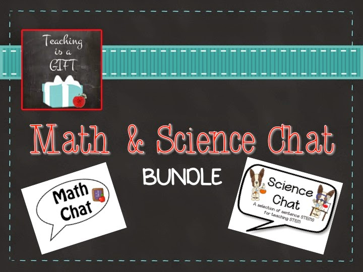 Teachingisagift Math and Science Chat Bundle