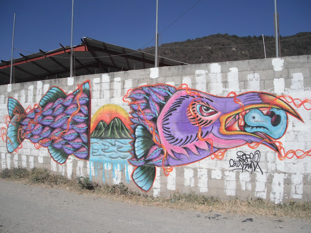 graffiti wall art Panajachel Guatemala