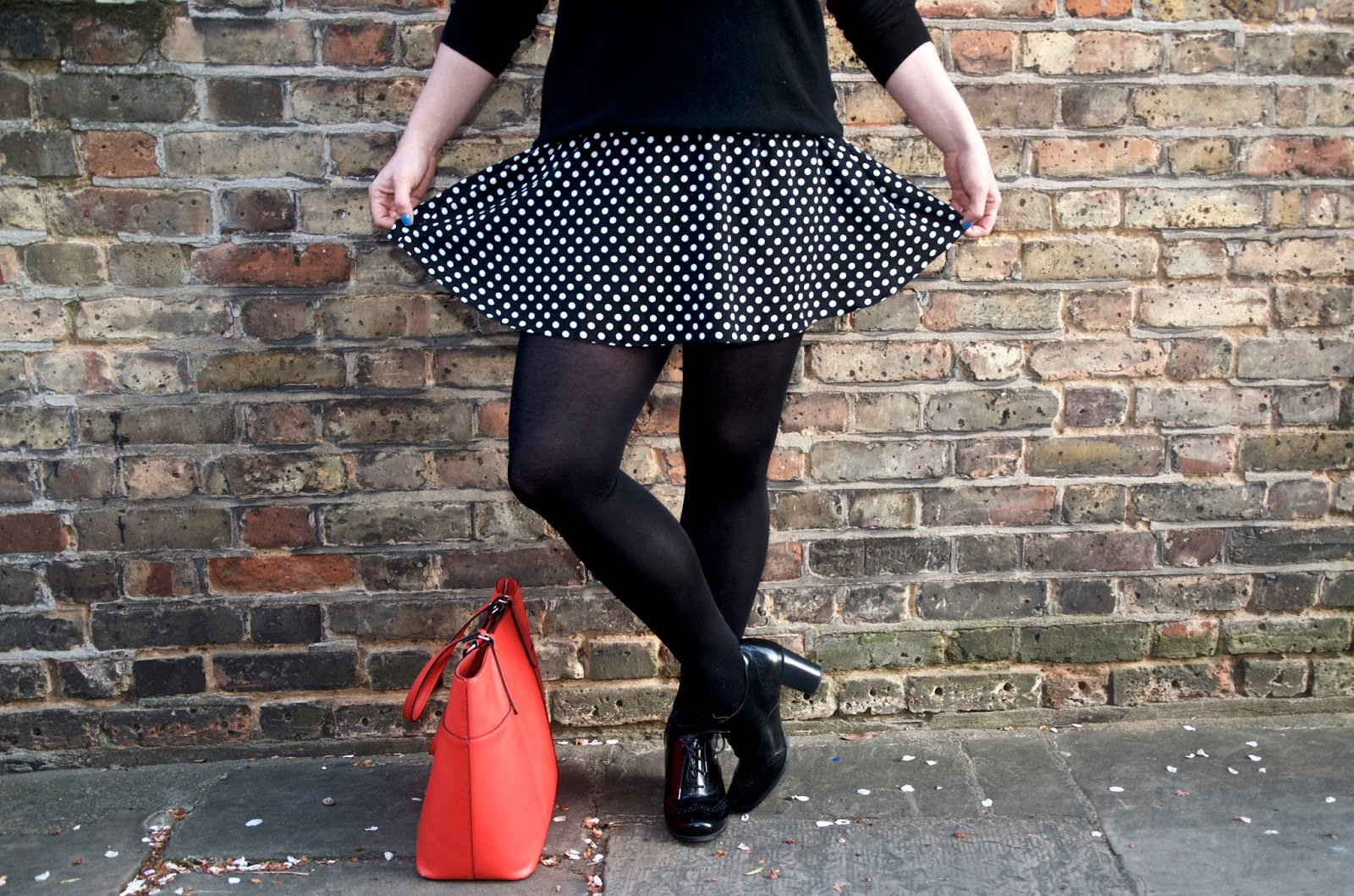polka dot circle skirt
