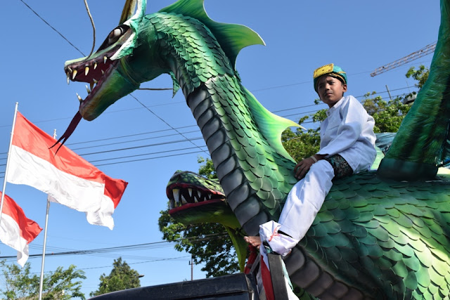 Karnaval di kota Gresik