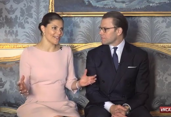 Crown Princess Victoria of Sweden and Princess Daniel of Sweden at the Royal palace in Stockholm