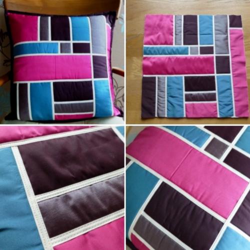 Twin Needle Bias Tape Pillow - Tutorial