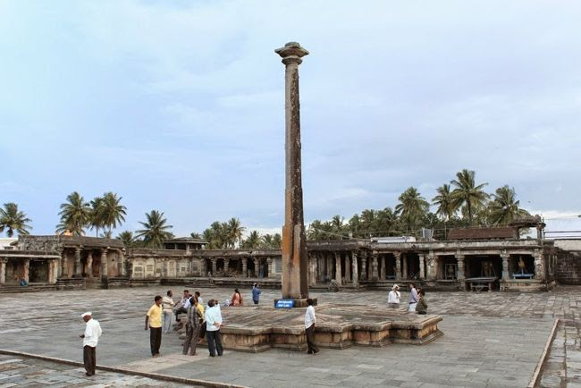 Gravity Pillar At Sri Chennakeshava Temple