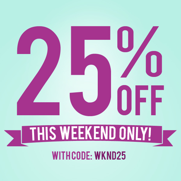 This Weekend Only: Yoma Blog: 25% Off Everything In Store This Weekend Only