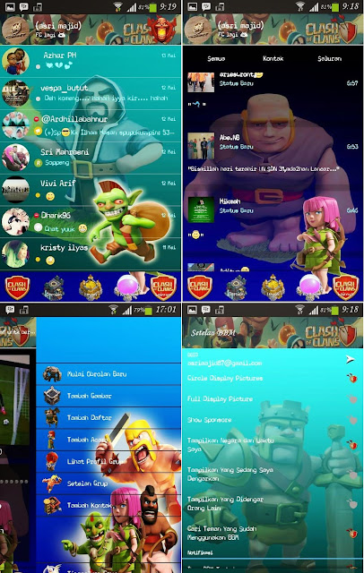 Download New BBM Mod Clash of Clans Themes Apk 2.8