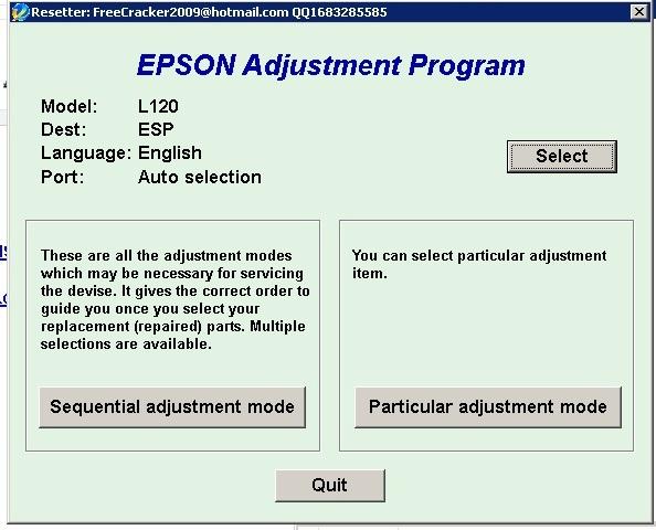 Epson l120 resetter adjustment program free download | Resetter
