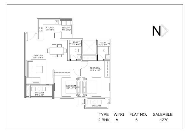 Hiranandani Glen Ridge Floor Plan