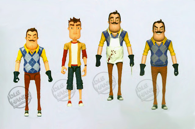 Toy fair 2018 McFarlane Hello Neighbor 5 inch Action Figures