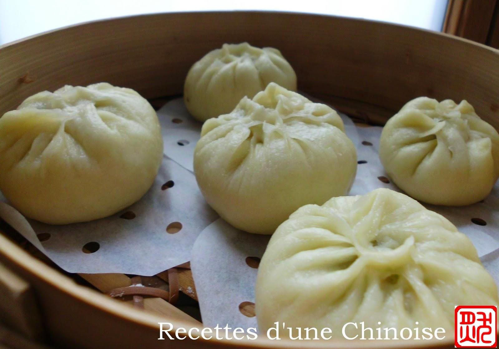 Recettes d 39 une chinoise baozi petit pain fourr la vapeur b o zi - Chinois pour la cuisine ...