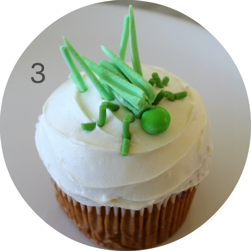 How to decorate a grasshopper cupcake! Perfect for an Insect or creepy crawly themed birthday party