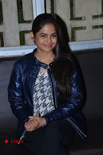 Actress Nanina Ganguly Stills in Black Tights with Vangaveeti Movie Team at Devi Theater  0033.JPG
