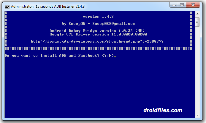 Download 15 Seconds ADB Installer v1.4.3