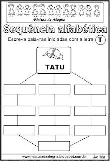 Sequência alfabética letra T