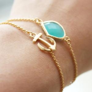 bracelet ancre cadeau noel