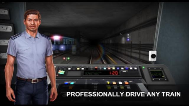 Game mengemudi kereta api di ponsel pintar