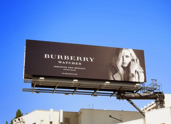 Burberry watches Britain Gabriella Wilde billboard