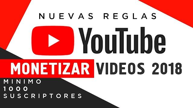 monetizar y ganar dinero en Youtube en el año 2018
