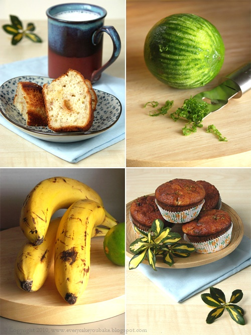 muffinki bananowe z kawałkami toffi