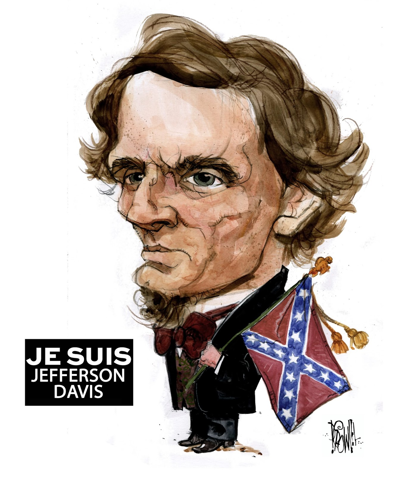 Vancouver Artist S Cartoon Of Florida School Shooting: Pat Crowley's Penheads: Je Suis Jefferson Davis