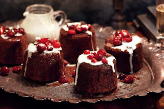 Sticky cranberry and butterscotch puddings desserts recipes