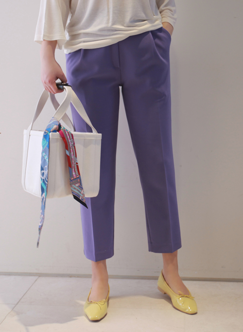 Semi-Garterized Waist Side Pocket Pants