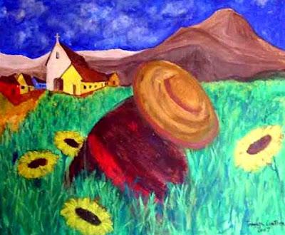 Dibujo por el Día del Campesino a colores