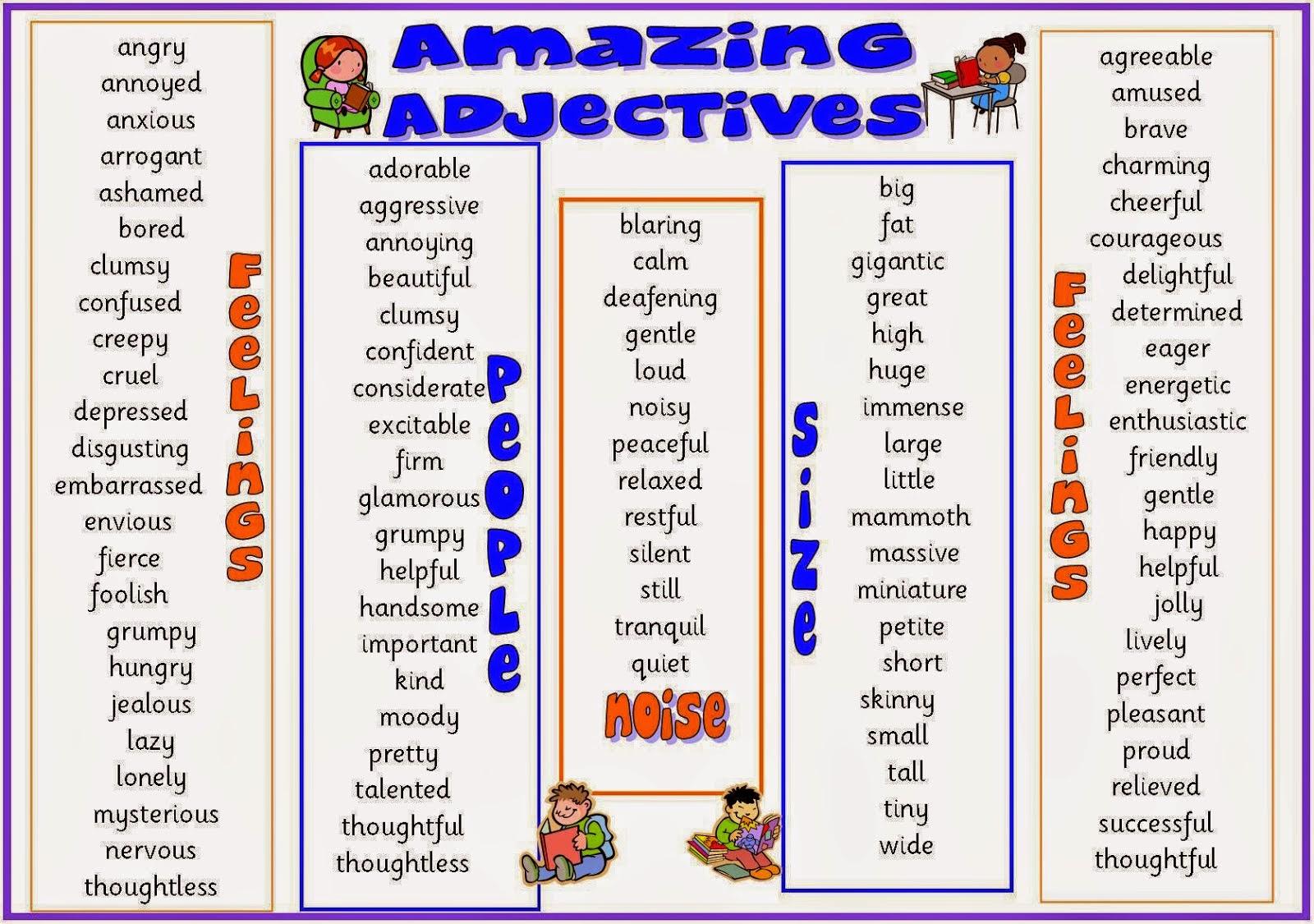 Descriptive Essay Adjectives