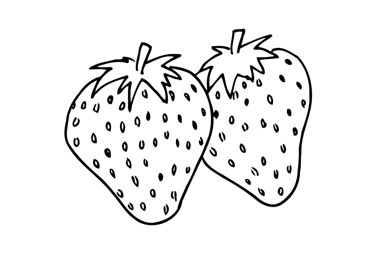 Free Coloring Pages Printable: Strawberry Coloring Pages