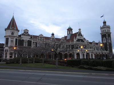 Estación de ferrocarril. Dunedin, en Nueva Zelanda