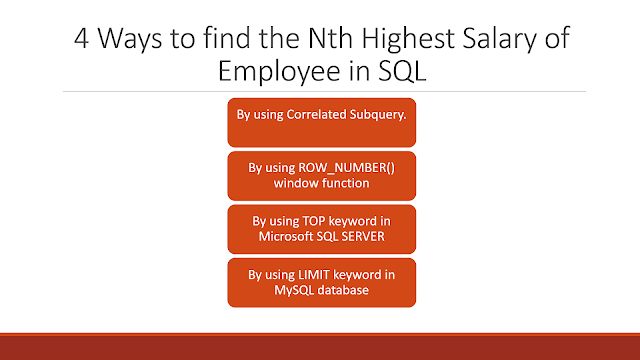 How to find Nth Highest Salary in SQL
