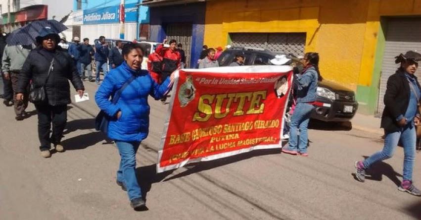 Consejo regional de Puno declaró legal la huelga indefinida del SUTEP