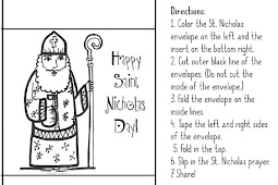 Paper Dali: Saint Nicholas: Free Coloring Page and Printable