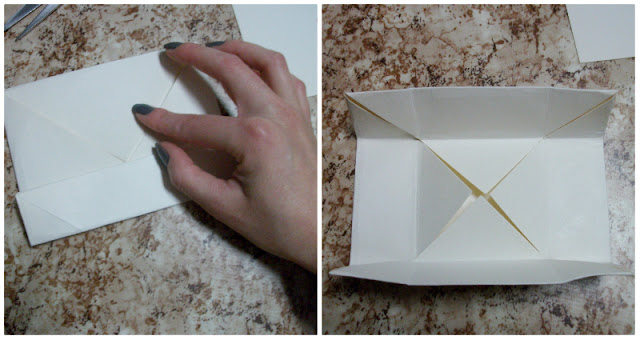 fold the paper for the gift box