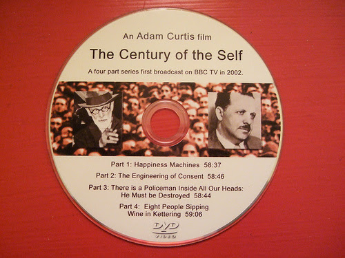 century of self by adam curtis essay The century of the self  how politicians and business learned to create and manipulate mass-consumer society adam curtis, the century of the self tells the untold and sometimes controversial story of the growth of the mass-consumer society in britain and the united states.