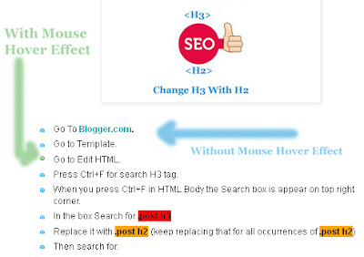 Add | Put | Customize Bullet List Style With Colorfull Circle Hover Effect In Blogger Blogspot