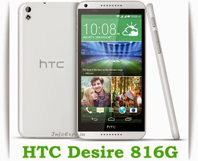 HTC Desire 816G: 5.5 inch, 1.3 GHz Quad-Core Android KitKat Specs, Price