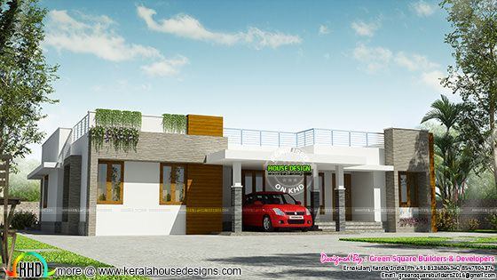Single floor proposed house at Kodanadu
