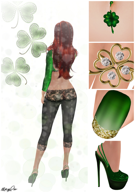 Second Life LOTD: St Patrick's Day Glitter and Lace