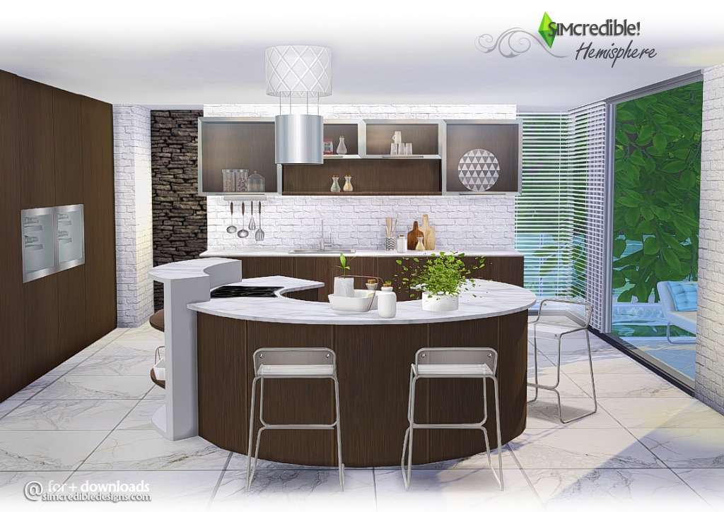 My sims 4 blog hemisphere kitchen set by simcredible designs for Kitchen set sims 4