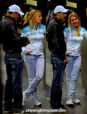 Di María and his girlfriend Jorgelina Cardosoon