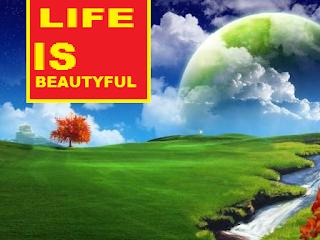 "Kata mutiara ""Life is so beautiful"" untuk Board Chast"